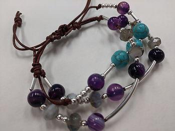 bracelet with prurple beads