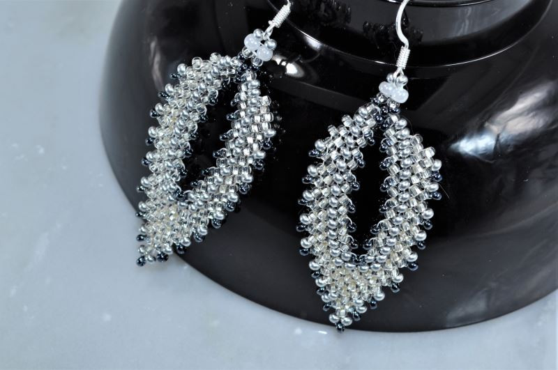 Earrings out of beads