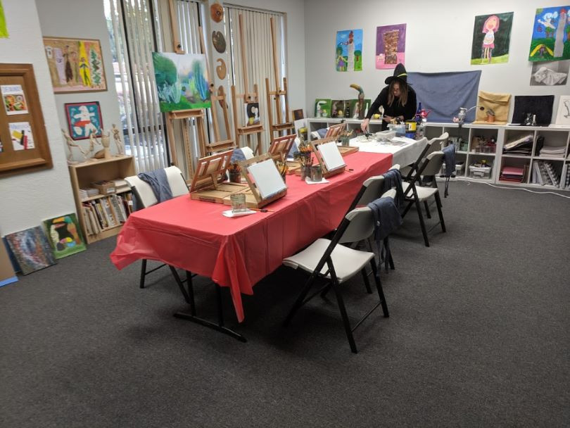 Classrom ready for the painting party
