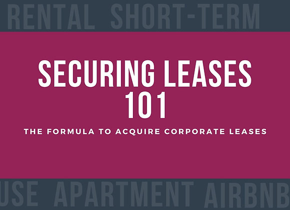 Securing Lease 101