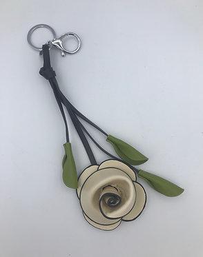 Fleur porte-clés & déco de sac