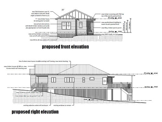 Plans for house renovations Brisbane north side