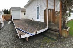 Deck Build Nanaimo - Before Photo