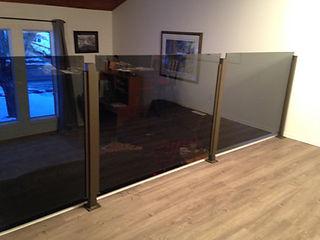 Aluminum topless glass railing nanaimo