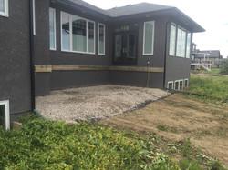 Deck Build Lethbridge - Before photo