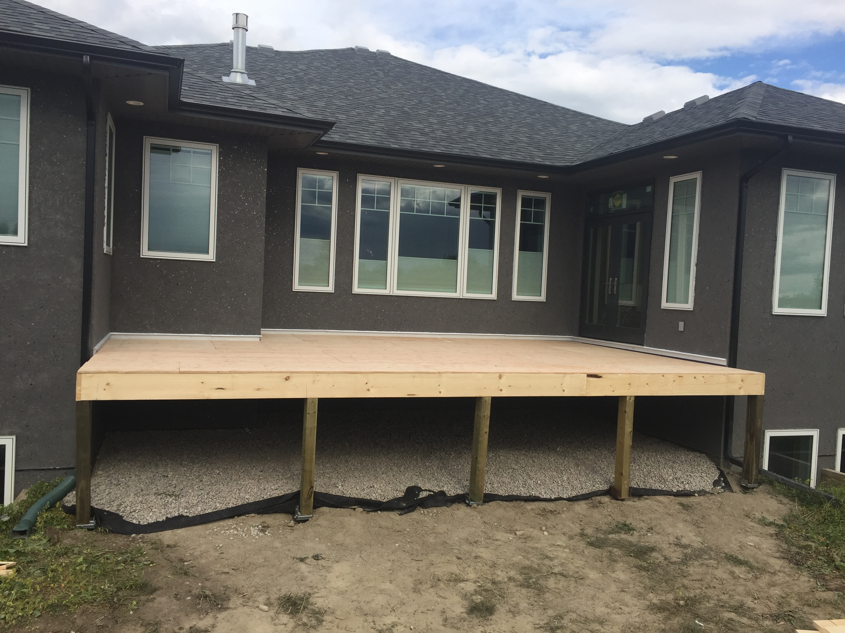 Deck Build lethbridge - After Photo