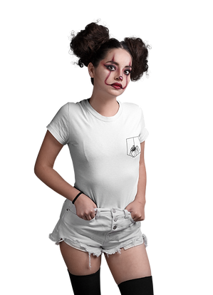 mockup-of-a-girl-wearing-a-t-shirt-and-clown-makeup-for-halloween-at-a-studio-22913.png