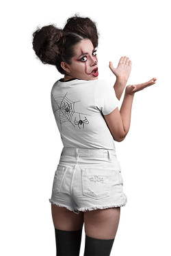 back-view-t-shirt-mockup-of-a-girl-with-spooky-halloween-makeup-at-a-photo-studio-22917 (2