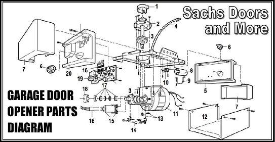 Garage Door Opener Parts Diagram