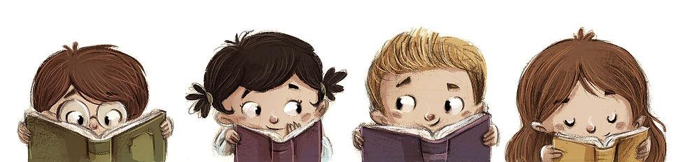 Zeichnung Kinder lesen - © cirodelia/stock.adobe.com