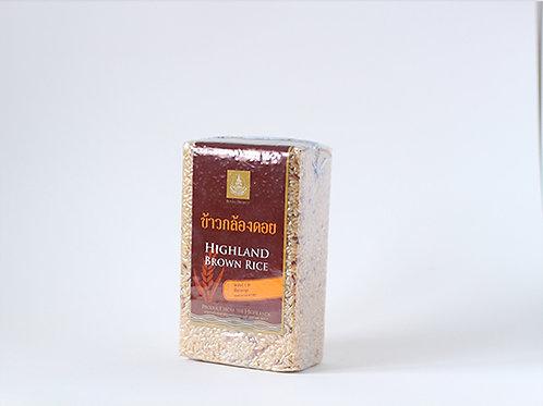 Highland Brown Rice 1 KG. (ข้าวกล้องดอยแพ็คสูญญากาศ 1 กก.)