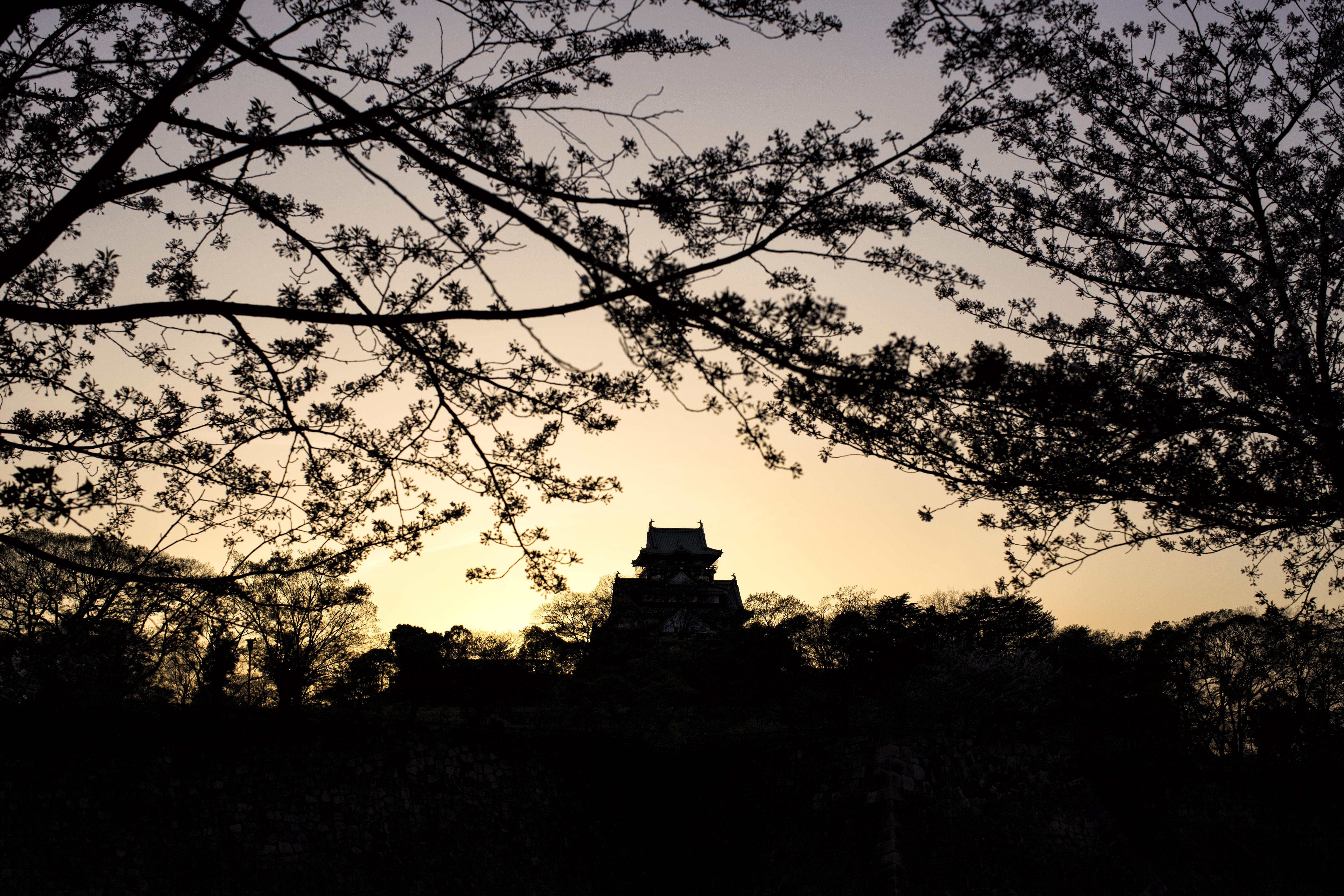 Osaka Castle Sunset
