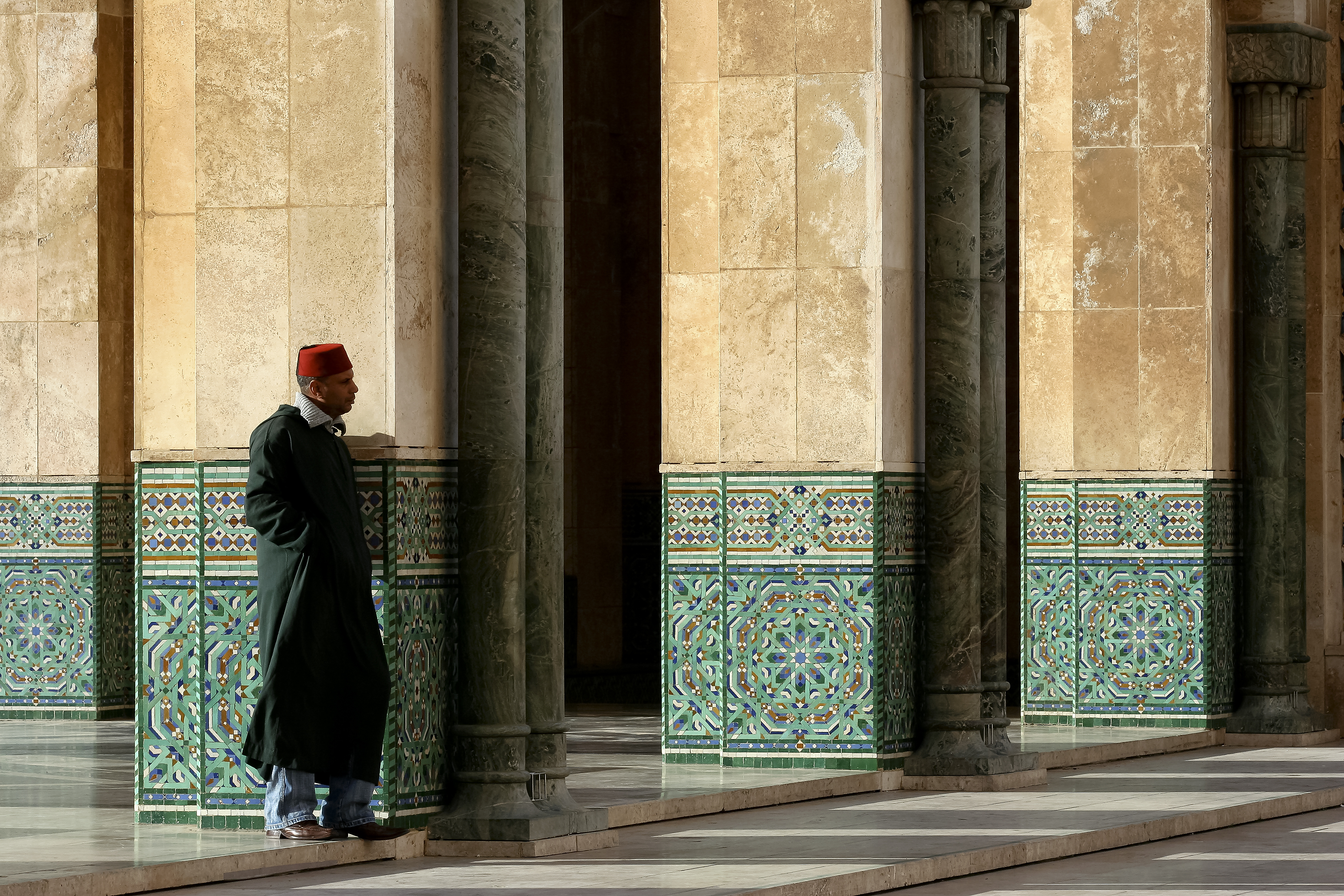Lone Man in Mosque
