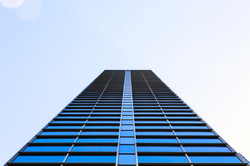 Chicago High Rise Abstract (Blue)