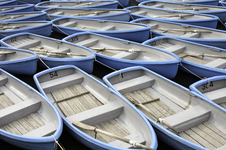 Blue Rowboats