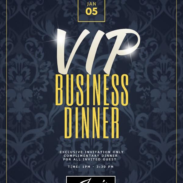 VIP Business Dinner Presentation