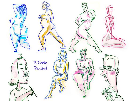 Pastel Life Drawings