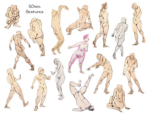 Life Drawing Gestures