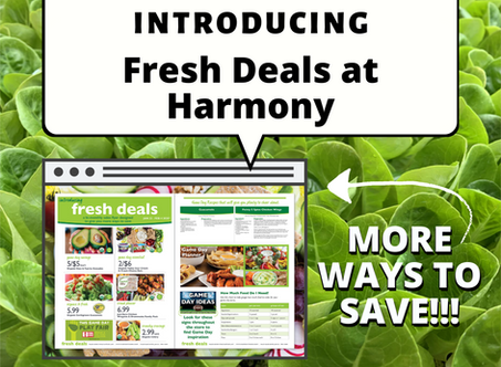 Introducing Fresh Deals at Harmony!