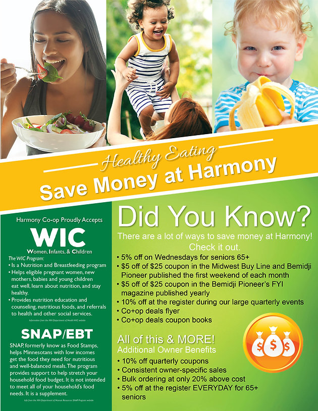 Save Money at Harmony Co-op   Food Co-op   United States