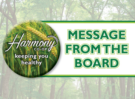 Message from the Board