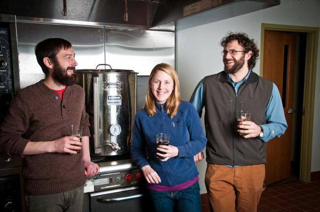 Bemidji Brew Founders, Tom, Tina, and Buck in 2012.