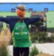 Our Annual Scarecrows Built by or Harmony Co-op Explorers