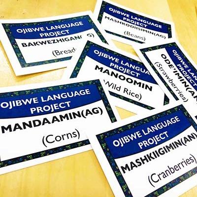 Ojibwe Language Project Signs