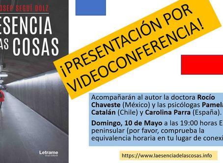 Presentación de la novela por videoconferencia