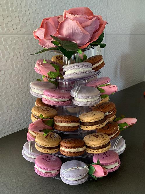 Tiered Macaron Display Tower