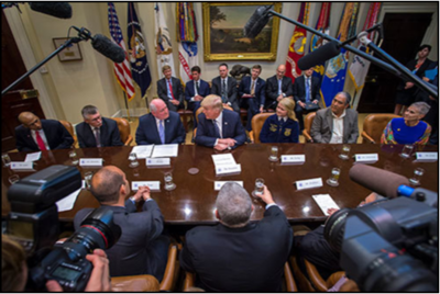 "April 2017 Monthly Briefing Secretary Perdue Joins White House  ""Farmers Roundtable"""