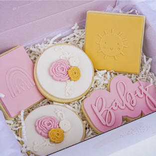 Baby Girl Cookie Box