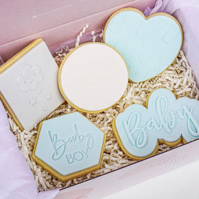 Welcome Baby Cookie Box