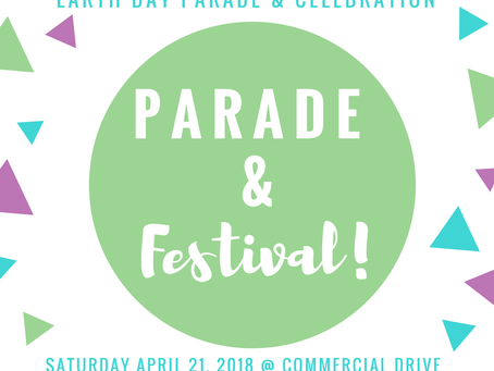 Earth Day Parade and Festival on April 22