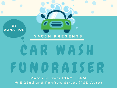 Youth For Climate Justice Now CAR WASH Fundraiser