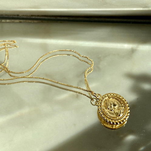 COIN 18 Kt gold necklace