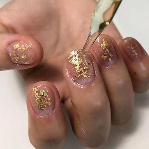 Gold leaf 🍂#gold #naildesigns #nailsofi