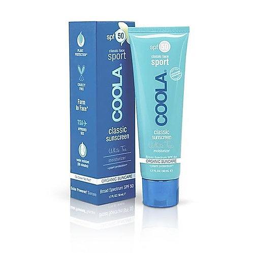 COOLA Sport Face SPF 50 White Tea Organic Sunscreen Lotion
