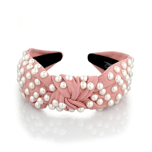 PEARL COVERED TOP KNOT hairband