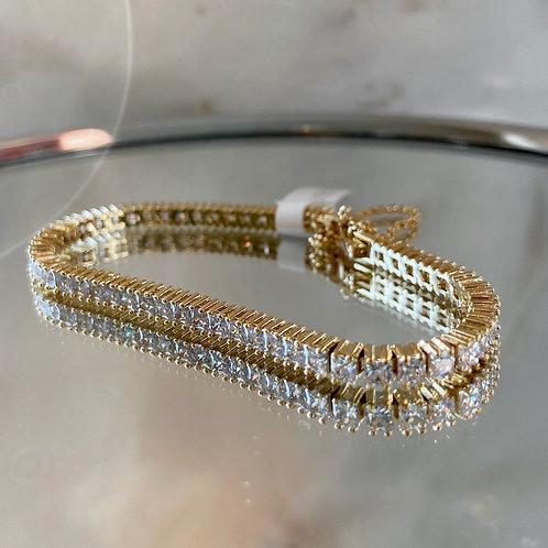 PRINCESS CUT  tennis bracelet TENNIS