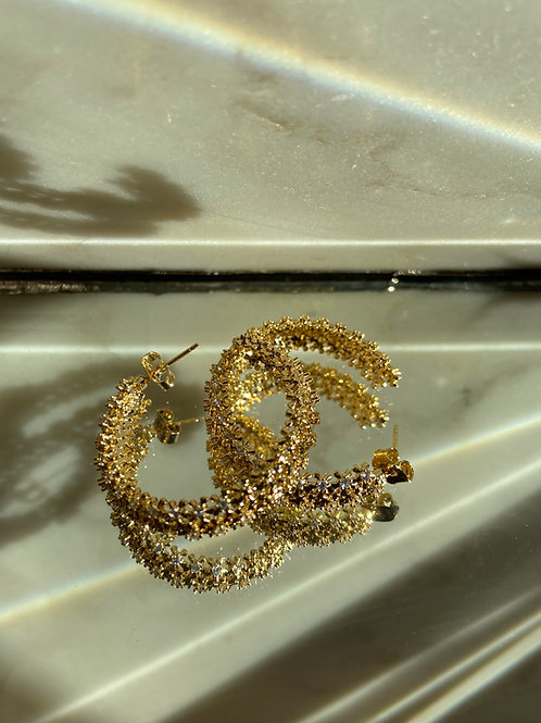 EMBELLISHED hoops earring