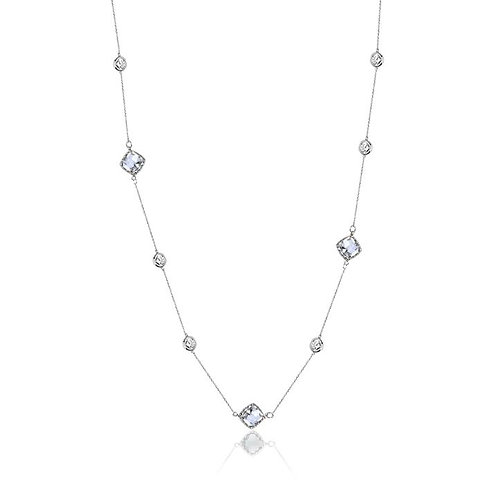 LONG MULTI CRYSTAL necklace