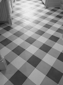gingham pattern cement tile floor kitchn