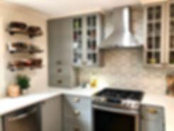 kitchen cement tile backsplash