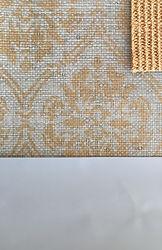 Thibaut damask wallcovering sisal rug