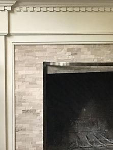 fireplace surround limestone