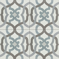 Sanibel damask cement tile encaustic tiles pacific hds collection handmade