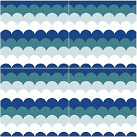 Wavy Sea scallop modern cement tile encaustic tiles pacific hds collection handmade cement tile shop encaustic tiles moroccan cuban concrete patterned