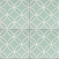 Nevis mint 8x8 interlocking circles cement tile encaustic tiles pacific hds collection handmade cement tile shop encaustic tiles moroccan cuban concrete patterned