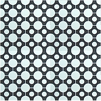 Orbit dots circles polka dots cement tile encaustic handmade hydraulic moroccan cuban concrete patterned